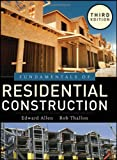 Fundamentals of Residential Construction, Third  Edition