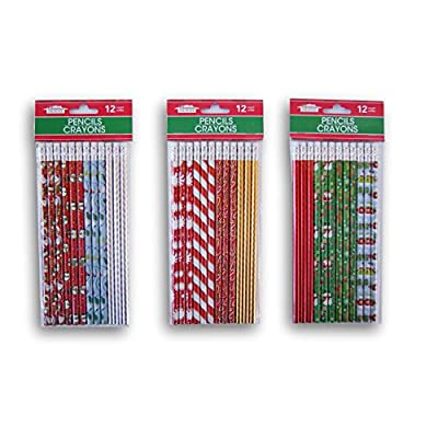 Christmas Winter Themed Pencil Set - 24 Count: Toys & Games