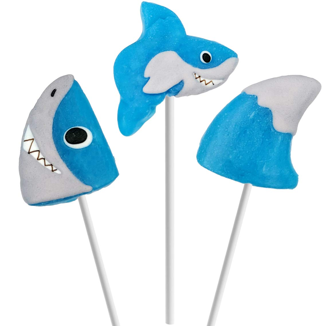 Fruidles Party Fun Shark Lollipops Variety 12 Pack Mixed Fruit Flavor Party Suckers Perfect Shark Party Favors For Your Shark Birthday Party