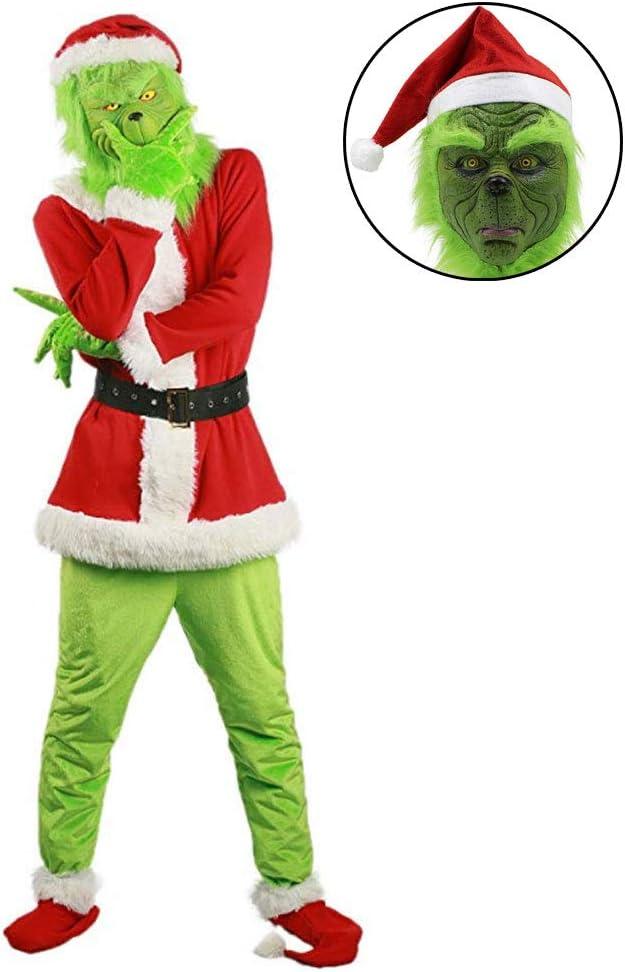 TINGSHOP Disfraz De Monstruo Verde, Disfraz De Grinch Cosplay ...