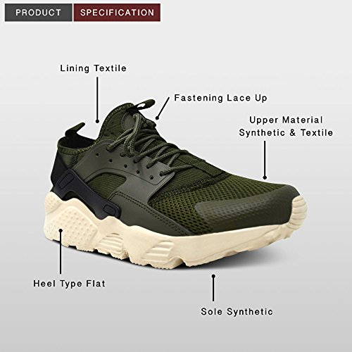 Xelay Mens New Gym Sports Trainers Air Bubble Max White Shock Absorbing Jogging Fitness Shoes Size 7-12 Olive / black jLkDseL