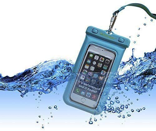 Dry Bag For iPhone Android DUK GEAR Universal 100/% Waterproof Floating Underwater Cell Phone Case Touch-Screen Friendly for Pool Beach Kayaking Travel Pouch Blue Google