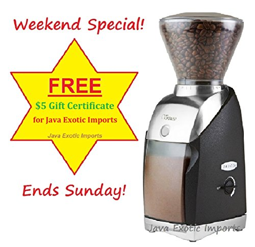 Virtuoso 586 by Baratza with $5 Gift Card from Java Exotic Imports by Baratza Virtuoso