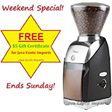Virtuoso 586 by Baratza with $5 Gift Card from Java Exotic Imports