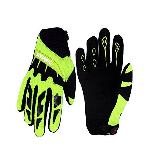Gtopart 50g Kids Full Long Finger Cycling Gloves,Skateboard Gloves, Roller Skating Gloves (green, S)