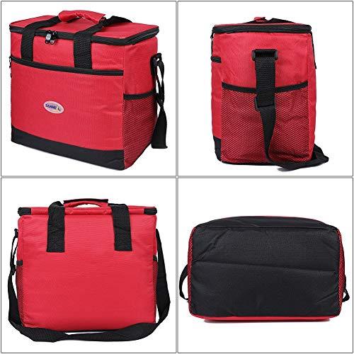 Grandes aislados bolsa de almuerzo kit reutilizable aisladas caja de almuerzo con para hombre EGOGO 16L bolsa de almuerzo mujere E524-2 Azul