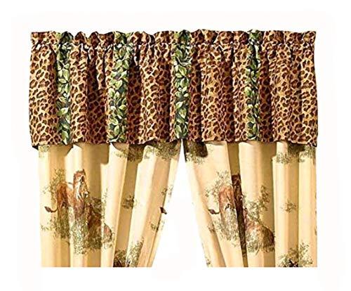 - Wild Cats Safari Leopard Print Window Treatment 16