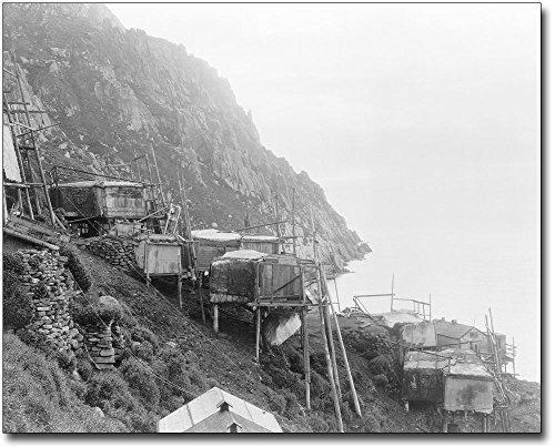 Cliff Dwellings, Alaska Edward S Curtis 11x14 Silver Halide Photo Print