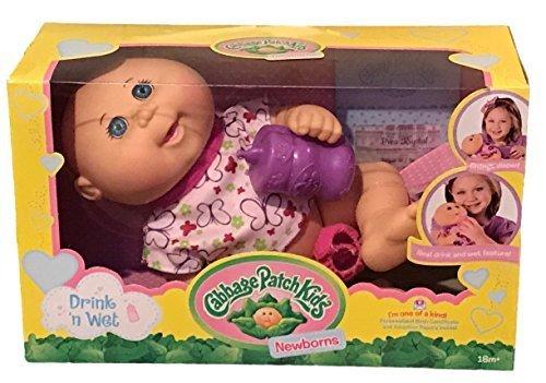 Cabbage Patch Kids Drink N' Wet Newborn Baby Doll (Butterfly)