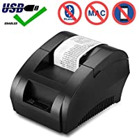 USB Thermal Receipt Printer 58mm High Speed Printing Compatible with ESC / POS Print Commands Set