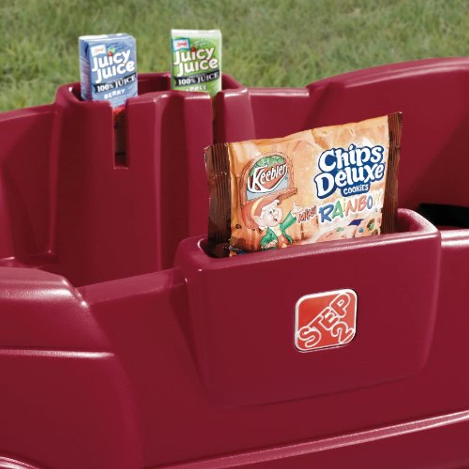 Step2 Neighborhood Wagon with Seats, Red & Wagon for Two Plus Blue
