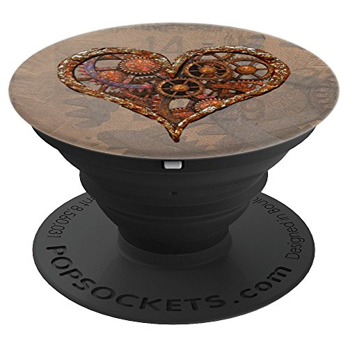 Steampunk Rusty Vintage Mechanical Heart Art Deco PopSockets - PopSockets Grip and Stand for Phones and Tablets