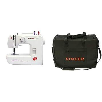 Singer Start 1306 - Máquina de coser mecánica, 6 puntadas, color blanco + Funda para máquina de coser, color negro: Amazon.es: Hogar