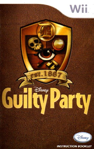 Disney Guilty Party Wii Instruction Booklet (Nintendo Wii Manual Only - NO GAME) [Pamphlet only - NO GAME INCLUDED] Nintendo