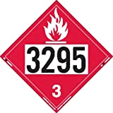 Labelmaster ZT2-3295 UN 3295 Flammable Liquid Hazmat Placard, Tagboard (Pack of 25)