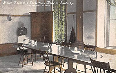 Dining Room in a Shaker town Kentucky Shaker Home in Kentucky USA Postcard