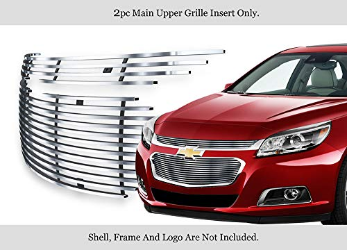 APS Compatible with 2014-2015 Chevy Malibu Main Upper Stainless Steel Billet Grille Insert N19-C04366C