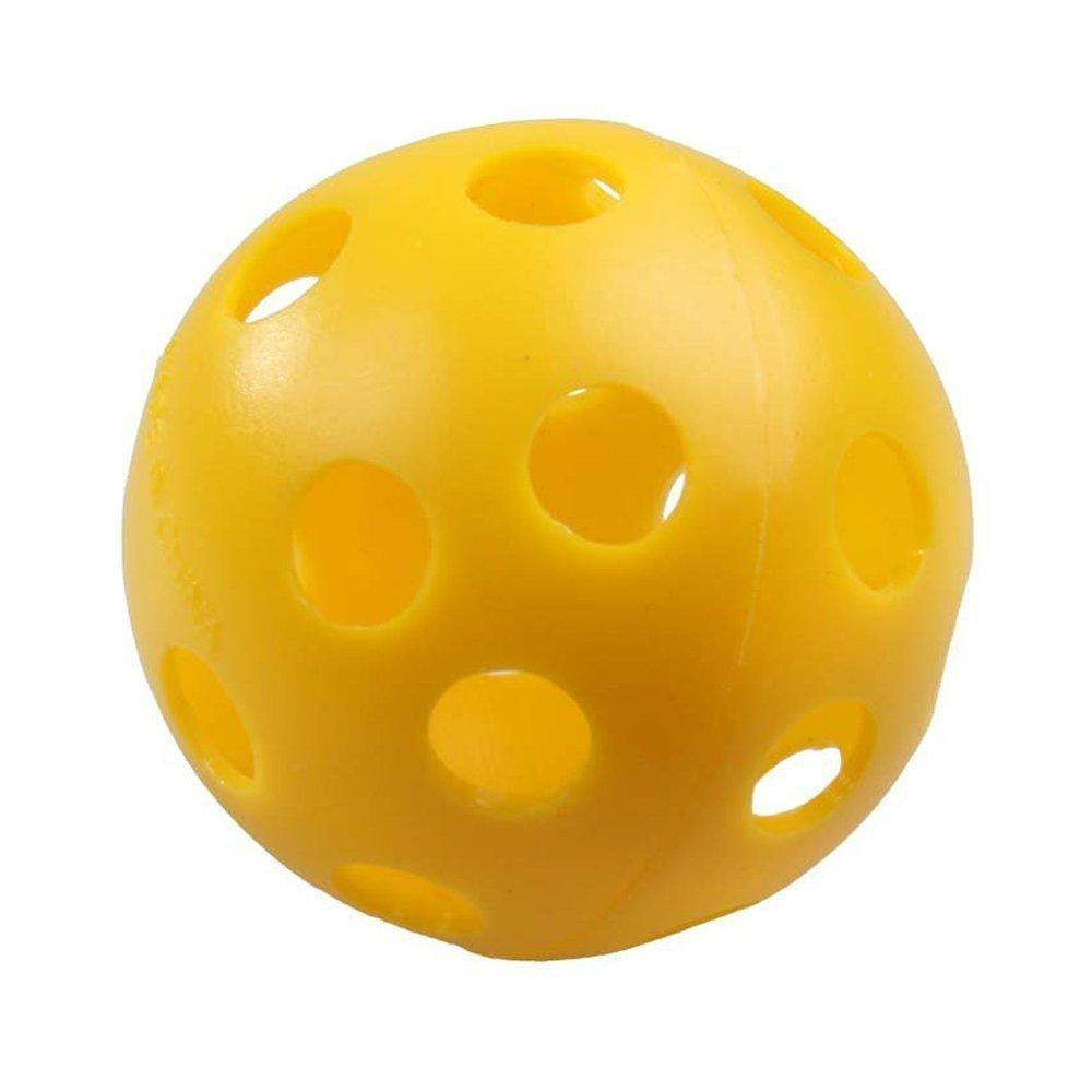 BUYEONLINE Golf Ball - 50 X Plastic Whiffle Airflow Hollow Golf Practice Training Sports Balls