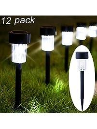 Outdoor post lights amazon maggift 12 pack solar pathway lights aloadofball Choice Image