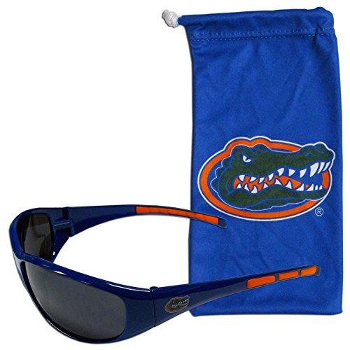 (NCAA Florida Gators Adult Sunglass and Bag Set, Blue)