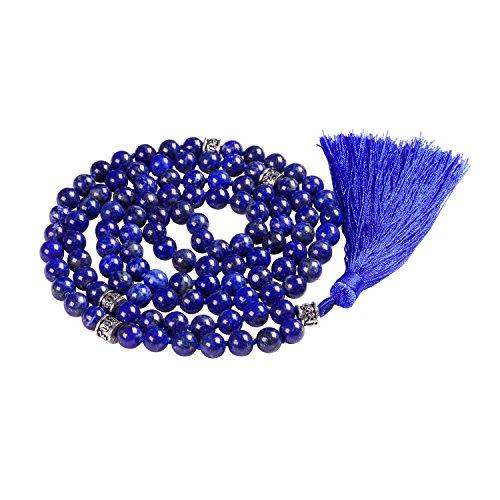 Mala Beads Necklace, Gemstone Mala Bracelet, Buddhist Prayer Beads Necklace, Tassel Necklace, Knotted Necklace