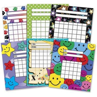 (Teacher Created Resources - Individual Incentive Charts, 5-1/4 x 6, 6 Designs, 36/Each, 216/Pack)