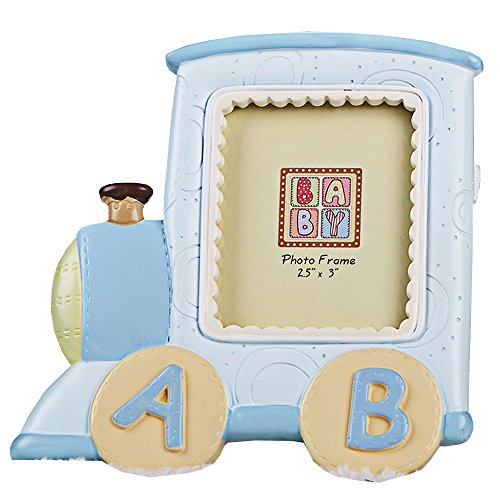 MASSJOY Cartoon Train Alphabet Baby Photo Frame, Creative Children Photo Frame Baby Birthday Gifts. by MASSJOY