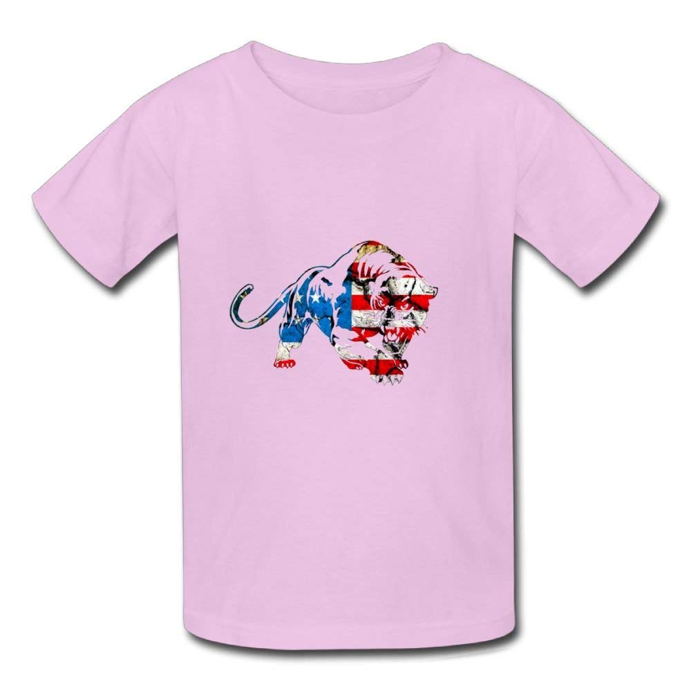 Cute Short Sleeve Shirt Tiger American Flag Birthday Day Baby Boy Kids