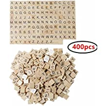 XADP 400 Wood Pieces-4 Full Sets of 100 Scrabble Letters Wood Pieces Wooden Letters