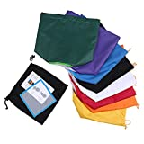 Walmeck 8pcs/set 5 Gallon Filter Bag Herbal Ice Bubble Hash Bag Extractor Kit Set of 8pcs Micron Bag Drawstring Bags Extraction Bags with Pressing Screen and Carrying Bag