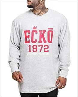 44c8249a Ecko Unltd Crown Thermal Shirt Red/Gray Mens Big & Tall (5X/Big) Apparel