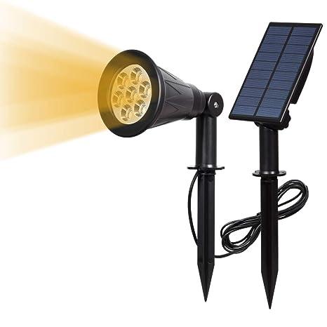 7 LED Luz Solar Proyector Solar Jardín Panel de Luz Separado 4000k ...