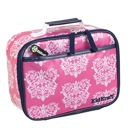KidKraft Damask Pattern Lunch Box, 12 x 5 x 14