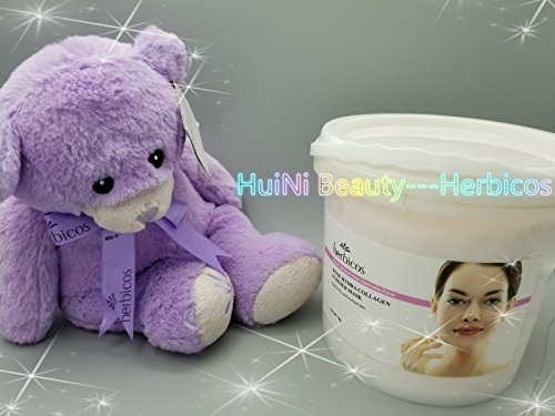 Huini Herbicos Rose Hydra Collagen Elastic Soft Mask Powder 35.2oz for Aging Dry Normal CD-AO048 (Eye Floral Hydra)