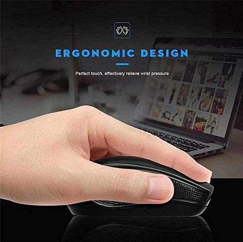 Intelligent Chip Ergonomics Gaming Mouse 10M Remote Wireless Transmission 1600 Dpi Suitable for Office Games 2.4G Wireless Optical Mouse