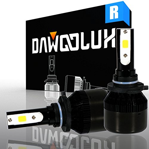 DAWOOLUX 9005 LED Headlight Bulbs Conversion Kit Flip COB Chips/Internal Driver-Dual All-in-one Extremely Bright 6500K Cool White 6400 Lumens 60W, 2-Years (03 Lexus Rx300 Drivers)