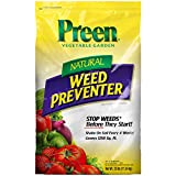Preen 2464224 Natural Vegetable Garden Weed Preventer - 25 lb. - Covers 1,250 sq. ft.