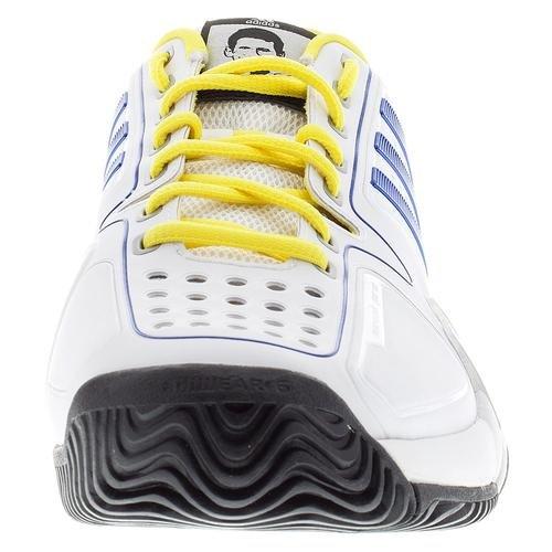 Scarpa Da Tennis Adidas Mens Barricade Novak Pro (blu / Oro / Bianco) - 7.5