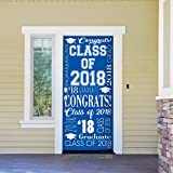 Victory Corps Collage Blue - Outdoor GRADUATION Garage Door Banner Mural Sign Décor 36'' x 80'' One Size Fits All Front Door Car Garage -The Original Holiday Front Door Banner Decor