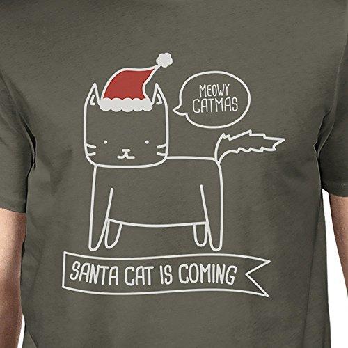 tama Hombres de corta Printing Meowy Santa o manga Un camiseta Cat 365 est Catmas w0U5qRtt