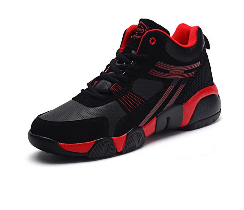 Männer Beiläufig Turnschuhe Schuhe Schnüren Laufen Sport Paar Schwarz Herbst Winter Draussen Groß Größe 36 46 Red