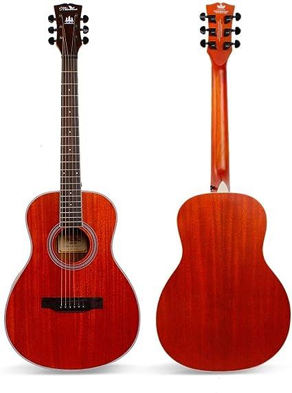Miiliedy Guitarra acústica de viaje, 38 pulgadas, principiante, niños, hombres, mujeres, estudiantes, práctica, tocar la guitarra folk acústica con estuche de guitarra, correa de hombro, juego de cuer: Amazon.es: Instrumentos musicales