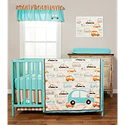 Trend Lab Vroom La La Boy's 3 Piece Crib Bedding Set, cars