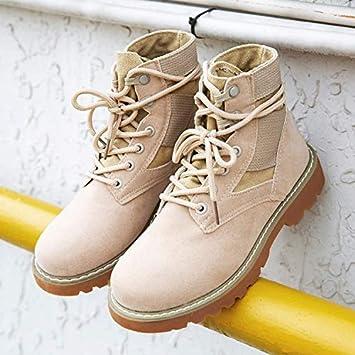 Shukun Botines Martin Boots Mujer Primavera y otoño