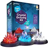 Mini Explorer Light-up Crystal Growing Kit - Grow Your Own Crystals and Make Them Glow! Great...