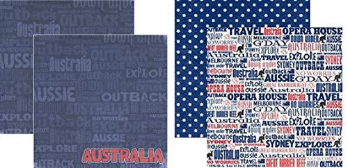 Australia 12x12 Scrapbook Papers Set by Reminisce - 2pcs by Reminisce (Image #1)