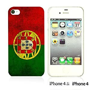 Flag Pattern Hard Back For Iphone 4/4S Case CoverPortugal