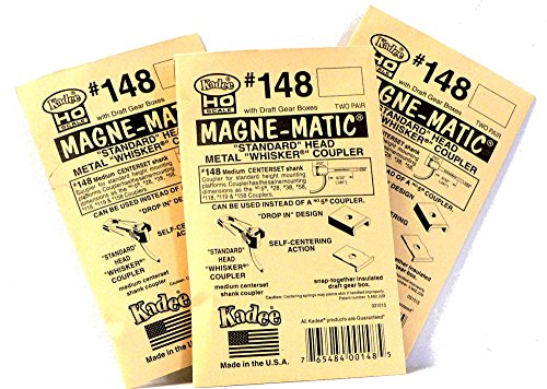 - HO Scale 3 Packs of #148 Kadee Couplers for Model Railroad Train Cars
