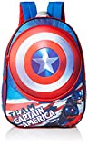 Marvel Boys' Captain America Molded Shield 16In Backpack, Blue