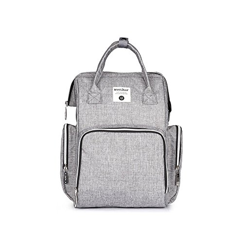 Diaper Bag Backpack Baby Bag Nursing Bag Multi-Function Large Capacity Waterproof Travel Backpack with Stroller Straps for Mummy Baby Care, Stylish and Durable, Gray